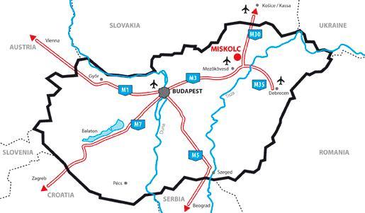 magyarország térkép miskolc Miskolc Southern Industrial Park | Miskolc Southern Industrial Park magyarország térkép miskolc