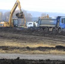 A 25 hektáros terület mintegy felén elkezdődtek a földmunkák